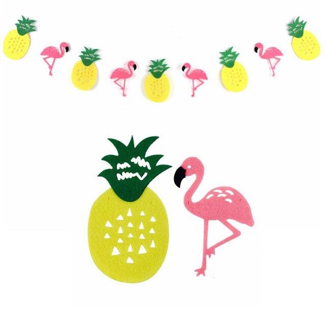 Фламинго и ананас баннер овсянка Для летних вечеринок Гирлянда день рождения фото тропический Луо бассейн Гавайская Вечеринка flamingle Декор