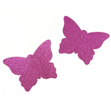 50pairs (100Pcs) /lot Woman nipple Cover Breast Petals Sexy Disposable Soft Silicone Nipple butterfly shape