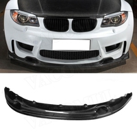 1 Series Carbon Fiber Front Lip Spoiler Aprons Bumper Chin For BMW E82 E87 1M Coupe 2 Door 2011 FRP Car Tuning Parts