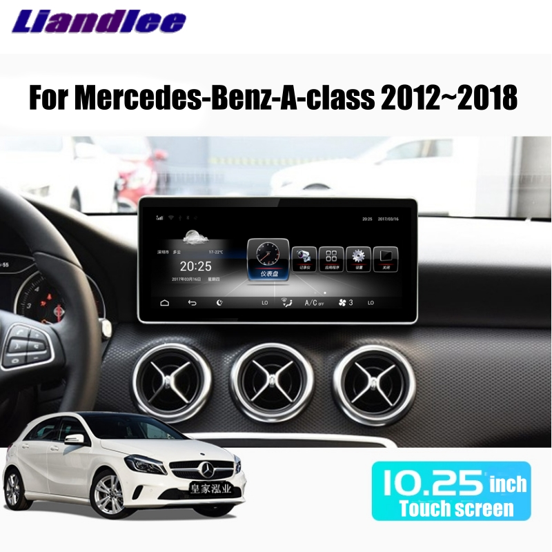 Liandlee Car Multimedia Player NAVI For <font><b>Mercedes</b></font> Benz MB A Class <font><b>W176</b></font> 2012~2018 CarPlay Adapter Car Radio GPS WIFI <font><b>Navigation</b></font> image