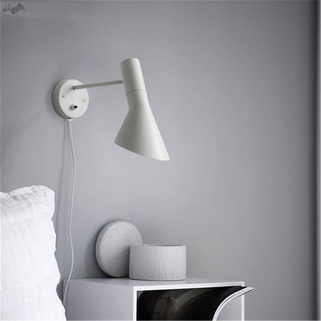JW_Nordic Modern Wall Lamp Bedroom Bathroom Lamp With Switch Lamp  Adjustable Holder Angle Corridor Stair Wall