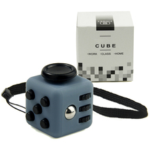 Mini Cube 11 Colours Desk Finger Fidget Toy Keychain Squeeze Fun Stress Reliever Puzzle Magic Cube With Box(China)