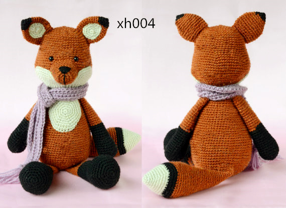 Crochet Toys And Dolls In Handmake FOX  Rattle