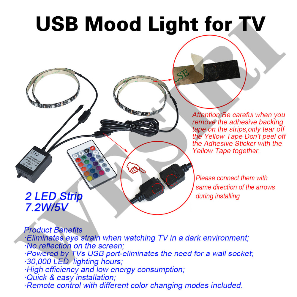 Wesiri 5v usb 5050 rgb led strip light kit for hdtv desktop pc wesiri 5v usb 5050 rgb led strip light kit for hdtv desktop pc background bias lighting in led strips from lights lighting on aliexpress alibaba mozeypictures Image collections