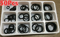 Universal 50Pcs/Set Wear-Resistant Car Metric Rubber O-rings Washer Seals Assortment Plastic Case Car-stying