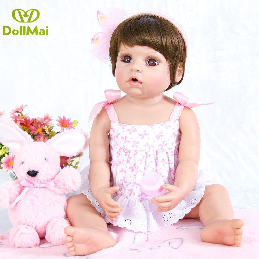 55 cm Renascer Bebê Boneca Bebe Reborn Vinil Silicone Cheio Realista Brinquedo Da Menina do cabelo curto Para Presente Princesa grandes olhos boneca de pano