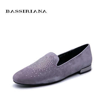BASSIRIANA shoes woman New spring Natural Leather Shoes Comfortable women shoes Free shipping - DISCOUNT ITEM  30% OFF All Category