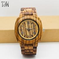 2017hot Sale Wooden Watch Men Fashion Casual Wood Quartz Watch Full Natural Wooden Freewholesale5pcs Per Lot