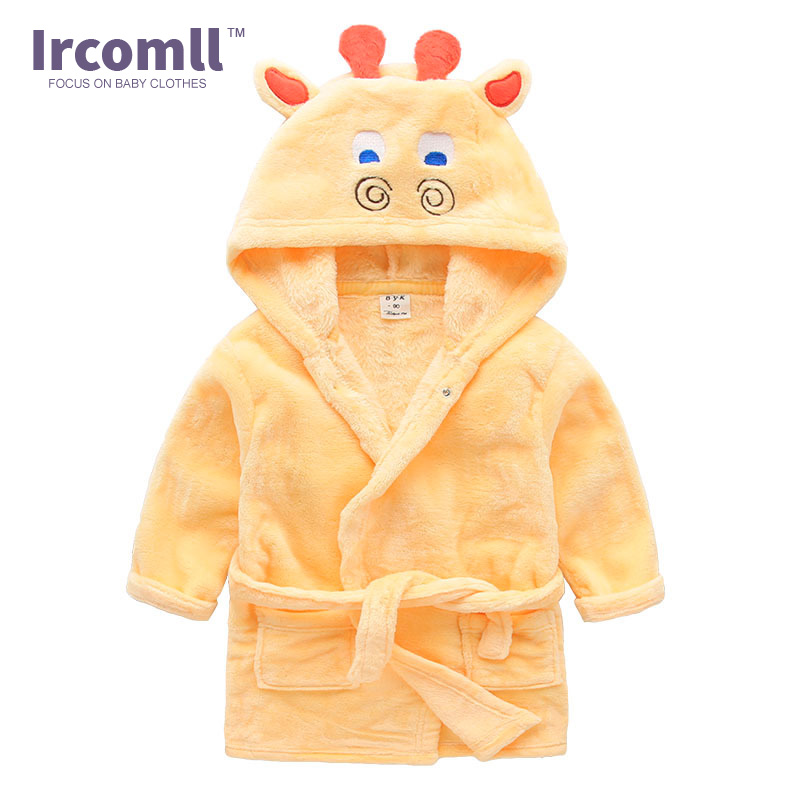 e25354417f 2017 New Winter Boy Girl Animal Baby Robes Kids Sleepwear Bath Pajamas  Children clothing Toddler Robe Romber