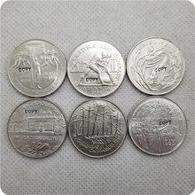 1995 Polonia 2 Zlote conjunto completo de 6 monedas copia conmemorativa monedas-monedas réplica medalla colección de monedas