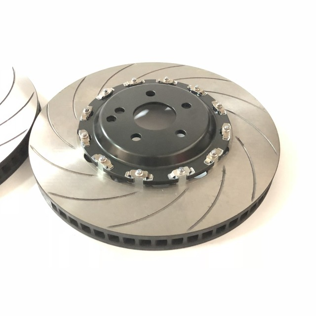 Jekit disque de frein de voiture 380*34mm avec capuchon central flottant pour mercedes Slk200 r171 2004 roue avant pour Brembo 6 pots étrier de frein