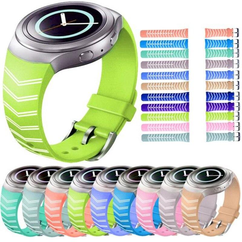 Watch Band Luxury TPU Silicone Wrist Strap For Samsung Galaxy Gear S2 SM-R720 Watchband For Women Men Watch luxury silicone watch replacement band strap for samsung gear fit 2 sm r360 wristband 100