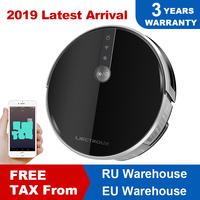 LIECTROUX Robotic Vacuum Cleaner C30B, 3000Pa Suction,2D Map Navigation,Memory, Map Shown on WiFi App,350ml Electric Water Tank