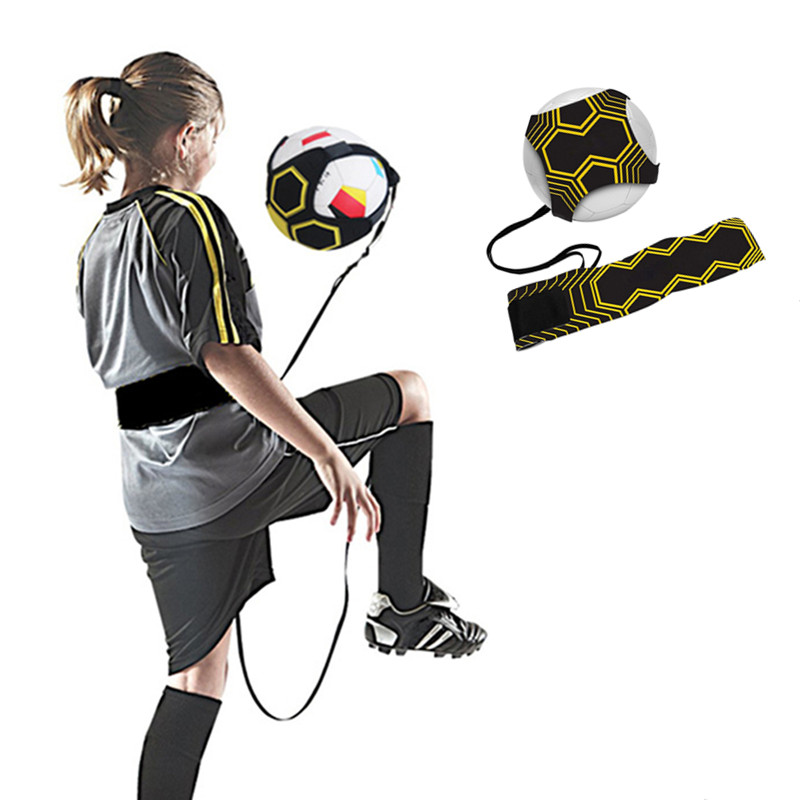 Children Soccer Training Sports Assistance Adjustable Football Trainer Soccer Ball Practice Belt Training Equipment Kick