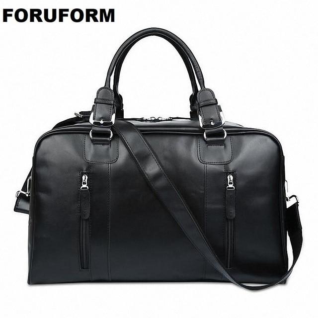 2018 Top Quality Men Travel Bag Casual Large Cowhide Handbag Men Travel Duffle Bag Genuine Leather Tote Gimnasio Mujer LI-1518