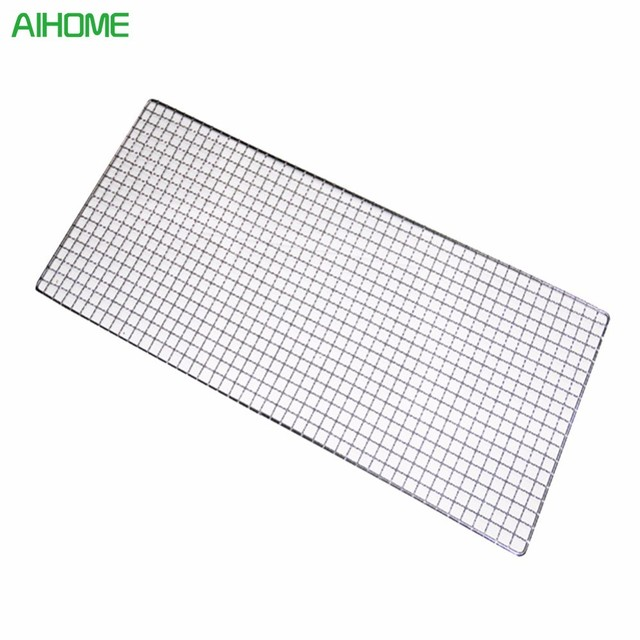 1pcs 32cm X 26cm Metal Squares Holes Grill Barbecue Wire Mesh