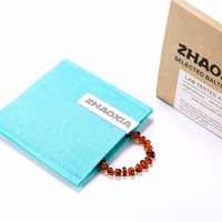Baltic Amber Teething Bracelet/Anklet for Baby - Gift Box - 10 Colors - 4 Sizes - Lab Tested