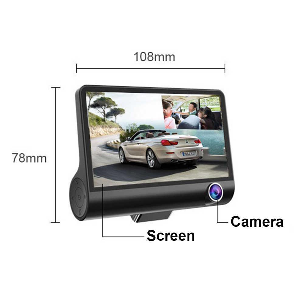 DVR Xe Ô Tô 3 Ống Kính Máy Ảnh 4.0 Inch Camera Chiếu Hậu Ghi Dash Cam Tự Động Registrator Ống Kính Kép Với Phía Sau camera Dvrs