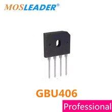 Mosleader DIP4 100 PCS 4A 600 V GBU 406 Ponte GBU406 retificador de Alta qualidade
