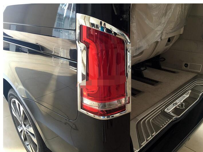 2016 Mercedes Benz Metris >> Chrome Rear Tail Light Lamp Cover Trim for Mercedes Benz Metris Valente Vito Viano V Class W447 ...