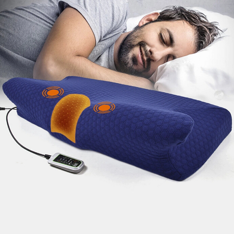 Free Shipping Massager Pillow Electric massage cervical vertebra pillow memory cotton physiotherapy equipment hot selling free shipping bone shape massage pillow relax car massage pillow