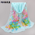 chiffon silk scarf women's spring and autumn accessories scarf