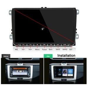 Image 2 - Podofo Radio samochodowe z androidem 9 2GB/1GB nawigacja GPS 2din Autoradio WIFI Bluetooth Stereo uniwersalny odtwarzacz multimedialny do VW Golf