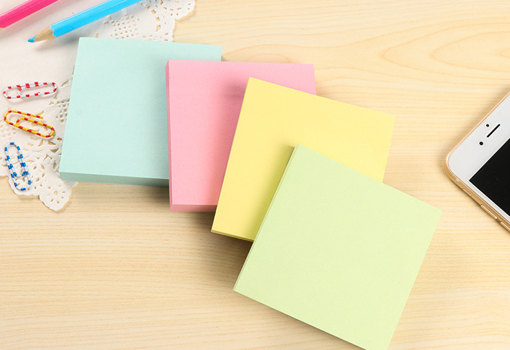 1pcs Solid color Square sticky notes Memo Pad Paper Sticker Post It Notepad Gift Stationery Escolar Papelaria ...