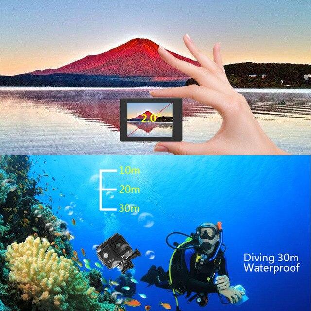 SJCAM SJ4000 ARIA Macchina Fotografica di Azione di Deportiva 4K @ 30FPS WiFi Schermo LCD da 2.0 pollici Diving 30m Impermeabile SJ 4000 Cam Sport Estremi DV 3