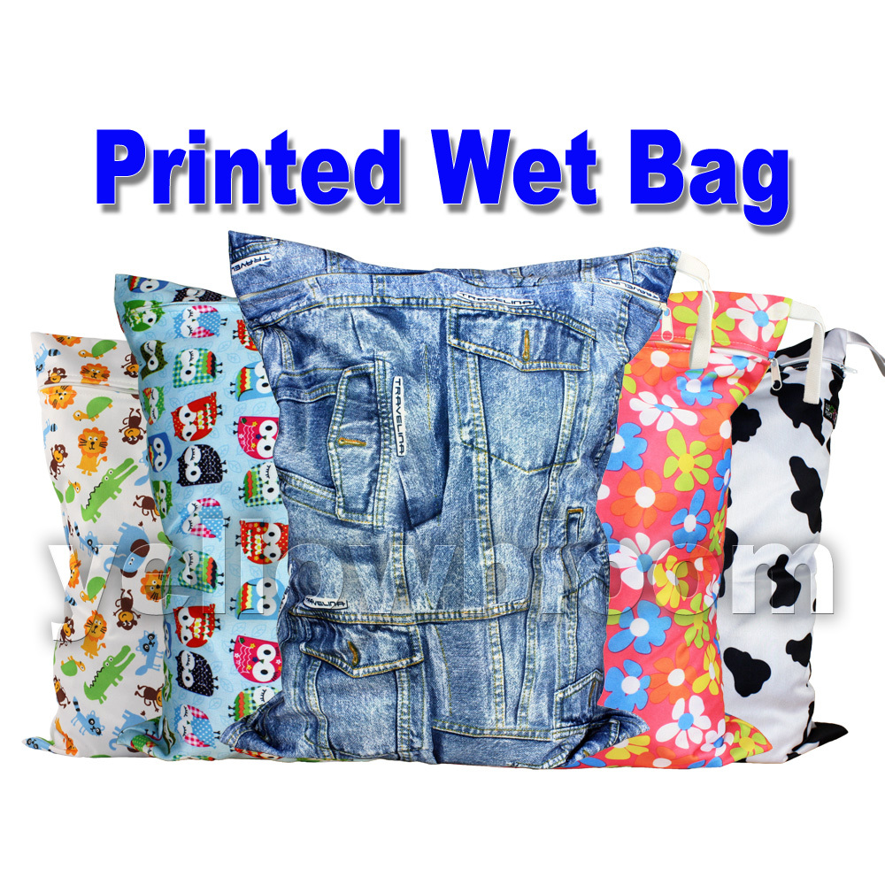 b19bdaaa2e68e2 Washable Reusable Cloth Diaper Wet Bag / Waterproof Swim Sport Travel Carry  bag/ Big Size:40X30cm Nappy Bag Baby Wet Diapers Bag