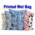 Washable Reusable Cloth Nappy Wet Bag / Waterproof Swim Sport Travel Carry bag / Big Size:40X30cm Diaper Bag Baby Wet Nappy Bag