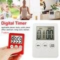 1 шт. пластиковый кухонный будильник прямого и обратного счета магнитные часы Temporizador простой 3 кнопки кухонный таймер тонкий ЖК-цифровой экр...