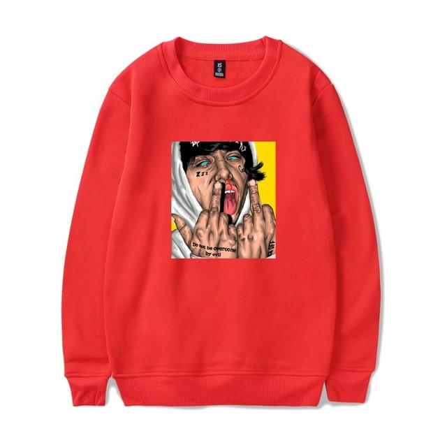 Lil xan Xanarchy Hot Sale Sweatshirts Anime Printed Men's Sweatshirt Hip Hop Spring Women Sweatshirts Hoodies Lil xan Xanarchy