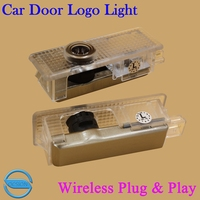 OCSION 2pcs LED Car Door Welcome Light For Jaguar T TYPE With Logo Projector Laser Ghost