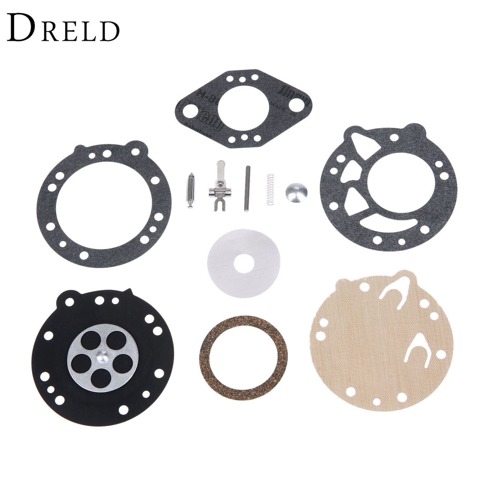 DRELD Carburetor Carb Rebuild Diaphragm Kit for STIHL 08 08S 070 090 Chainsaw TS350 TS360 TILLOTSON RK-83HL Replace Zama RB-42 carburetor carb rebuild kit zama rb 42 for stihl 08 070 090 ts350 ts360 tillotson rk 83hl