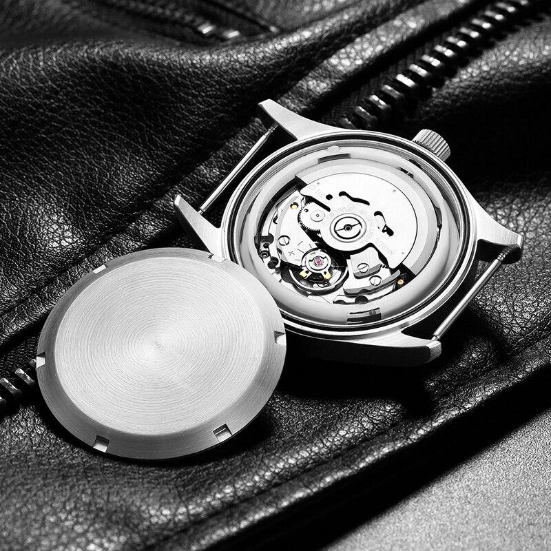 الرجال التلقائي غواص ووتش للماء 200m 316 الفولاذ المقاوم للصدأ الميكانيكية C3 مضيئة الساعات الياقوت زجاج mekanik كول الساعاتي-في الساعات الميكانيكية من ساعات اليد على  مجموعة 2