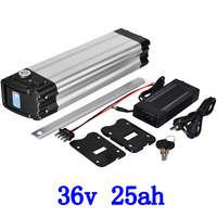 US EU No Tax 36V 1000W Electric Bicycle 36V 25AH battery use sanyo cell lithium battery with aluminum case with 2A charger