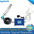 Alta qualidade 1900 MHz Telefones Celulares Da Verizon Amplificador 70dBi 1900 PCS 3G 4G LCD Repetidor Do Sinal Do Telefone Móvel Extensor reforço