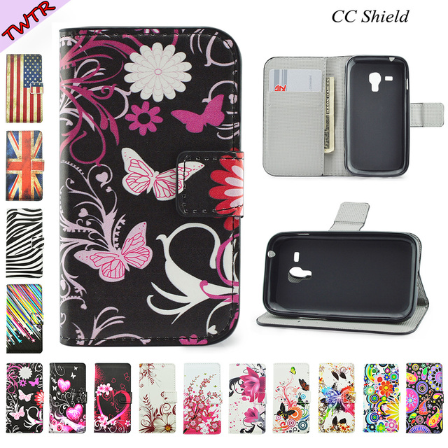Flip Case for Samsung Galaxy S Duos 2 S7582 S 7582 GT-S7582 Flip Phone Leather Cover for Galaxy Trend Plus S7580 S 7580 GT-S7580