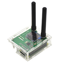 Duplex MMDVM Hotspot Support P25 DMR YSF +Raspberry Pi + 2pcs Antenna +OLED+case(Transparent color)(China)