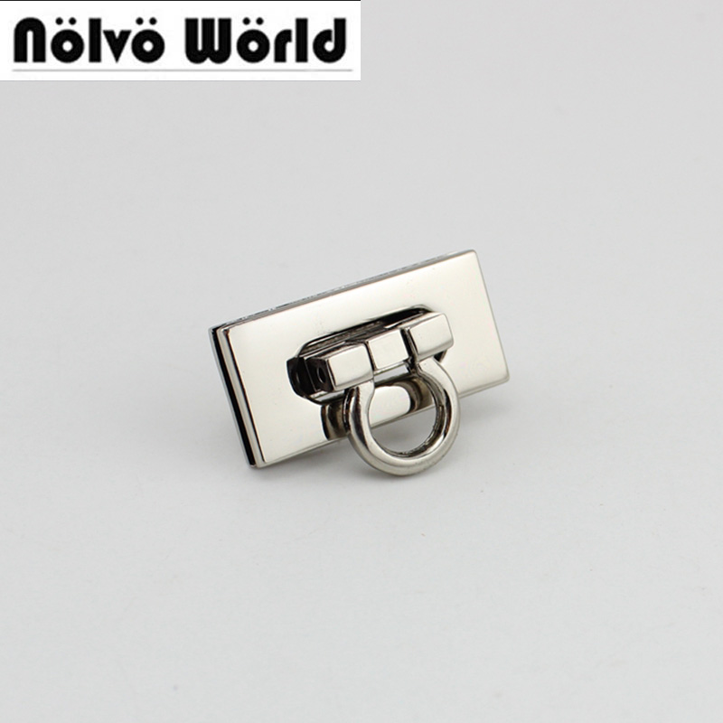 30sets/lot 36*18mm 5colors High Quality Lock Metal Functional Lock For Handbags Factory Hardware Wholesale Price 10sets Bronze