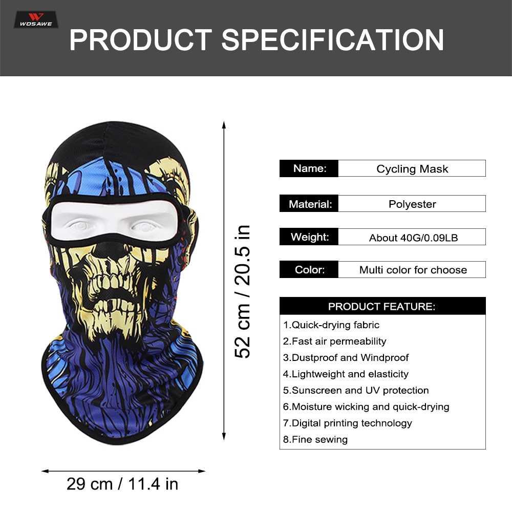 Motocicleta máscara facial halloween cabeça cachecol pescoço mais quente crânio esqui balaclava bandana assustador rosto escudo máscara ciclismo ao ar livre 2019