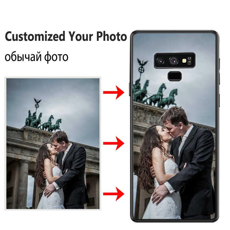 JURCHEN مخصص حقيبة لهاتف سامسونج غالاكسي S6 S7 حافة S8 S9 S10 E نوت 8 9 A6 A7 A9 A8 J4 J6 J8 Plus 2018 M10 غطاء مخصص صور