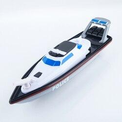 XQ 2018 Sem Fio RC Navio Pode Atirar Água Brinquedos Micro Controlado Por Rádio de Corrida Rápida Velocidade do Navio de Controle Remoto Barco Da Polícia