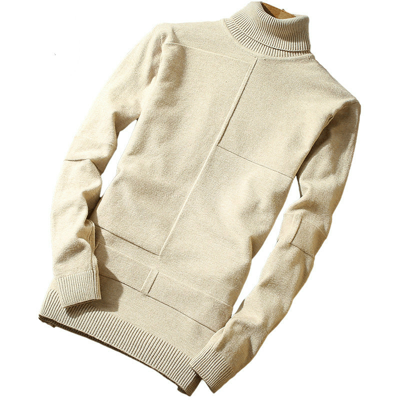 Male Sweater Pullovers Outwear Turtleneck Long-Sleeve Casual Fashion Solid All-Match