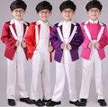 День защиты детей Подарок Для Мальчиков Одежда Набор Красочные Блейзеры Костюмы Формальные Костюмы Однобортный Хозяин Одежда Устанавливает Рождество