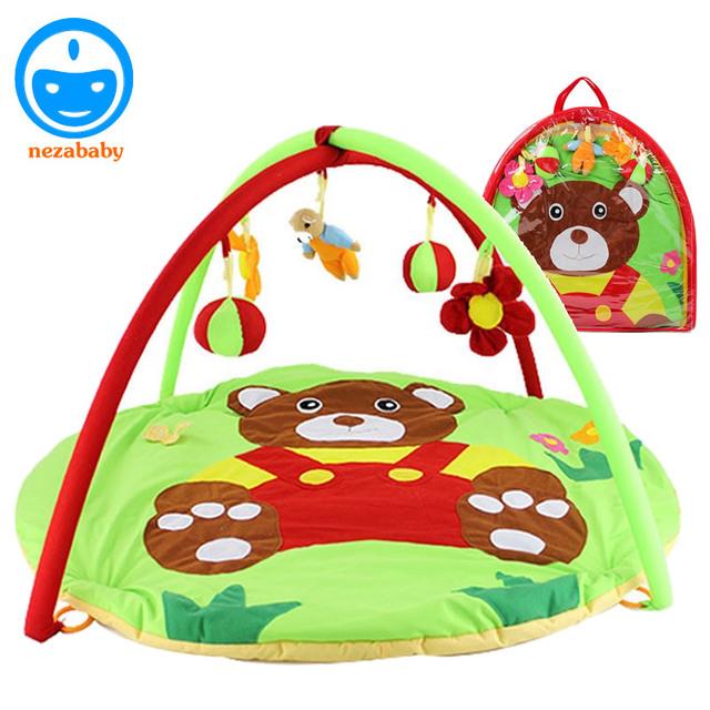 90 cm Dos Desenhos Animados Urso Macio Do Bebê Esteira do Jogo Do Bebê Tapete de Ginástica Do Bebê Tapetes de Jogo Do Bebê Esteira do jogo Infantil Crianças Educacional Mat Atividade PX14