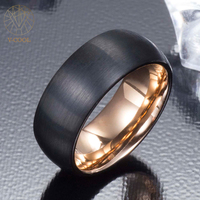 V COOL Never Fade Wedding Band For Man Brushed Comfort Fit Male Tungsten Rings