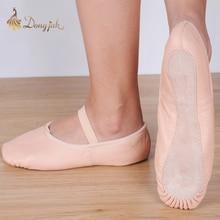 Canvas Flat Slippers White Pink White Black salsa Ballet Shoes For Girls Children Woman Yoga