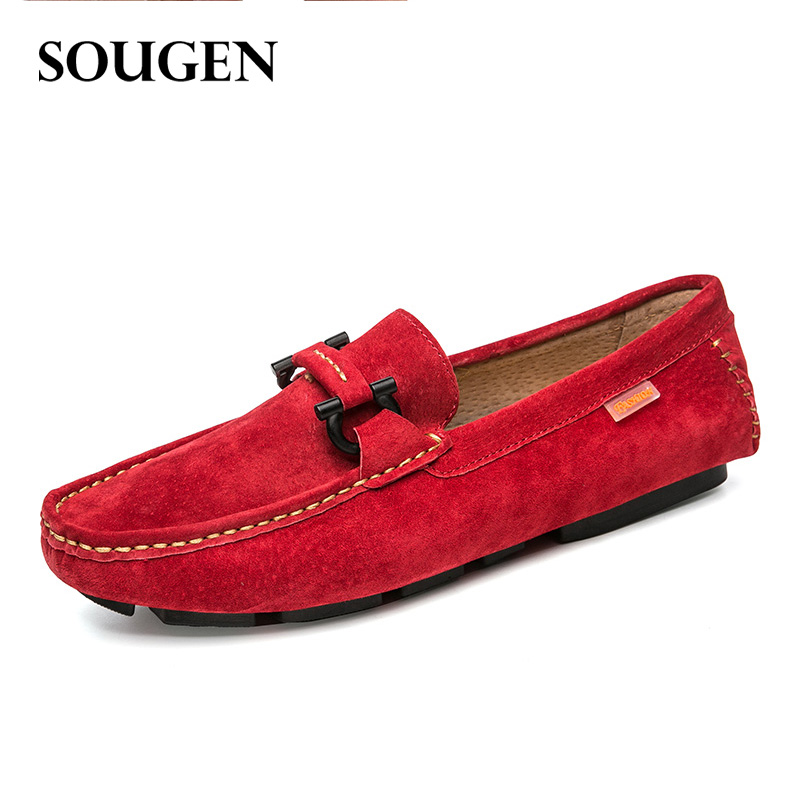 Ons Mens Krasovki Moccasins Casual Loafers Red Bottom Footwear Male Luxury Brand Elevator Shoes for Men Genuine Leather Slipony 38 44 luxury brand designer sneaker men loafers moccasins genuine leather casual shoes male footwear